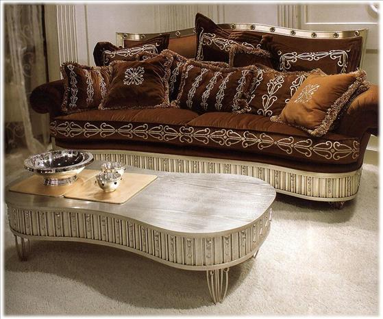 Arredo Стол журнальный ISACCO AGOSTONI Silver and Gold 1260__2