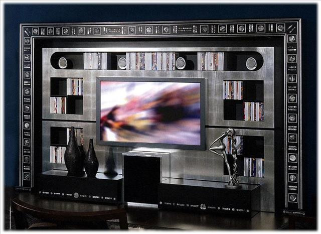 Arredo Стенка VISMARA   The Wall Home Cinema Silver Eyes
