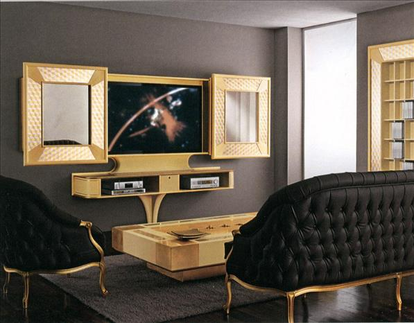 Arredo Стойка для TV–HI–FI VISMARA  Mosaika Sliding Home Cinema-Mosaik
