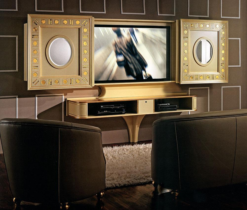 Arredo Стойка для TV–HI–FI VISMARA  Sliding Home Cinema-Glass Eyes