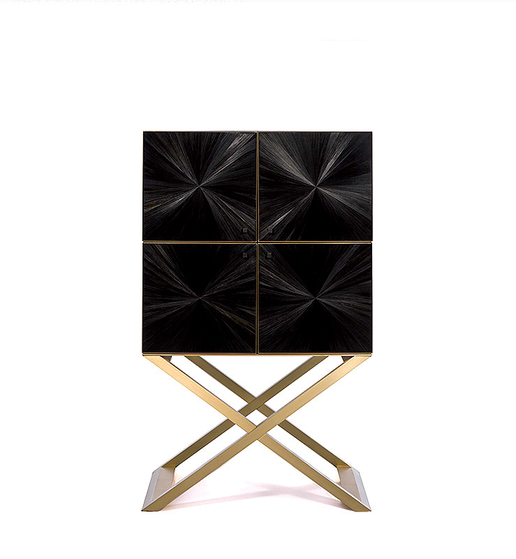 Arredo Бар ARMANI CASA CLUB BLACK STRAW MARQUETRY
